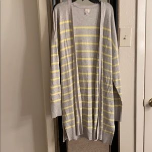 A New Day Striped Long Cardigan
